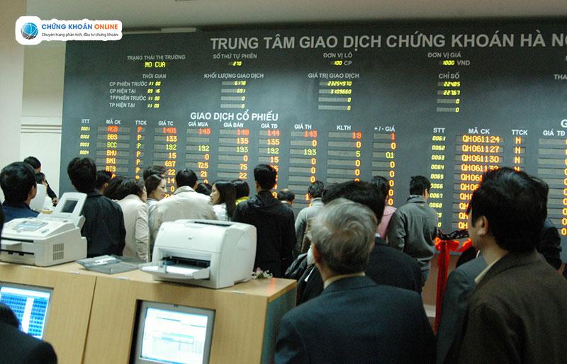 Thị trường Chứng khoán Việt Nam lịch sử trong phiên giao dịch