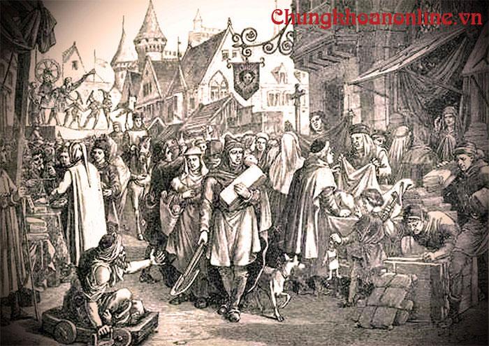 Ảnh: Hội chợChampagne (thế kỷ XIII)
