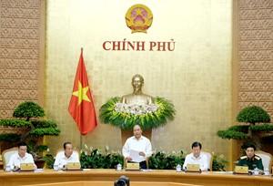 Thủ tướng chủ trì phiên họp Chính phủ thường kỳ tháng 5/2018. Ảnh: VGP/Quang Hiếu