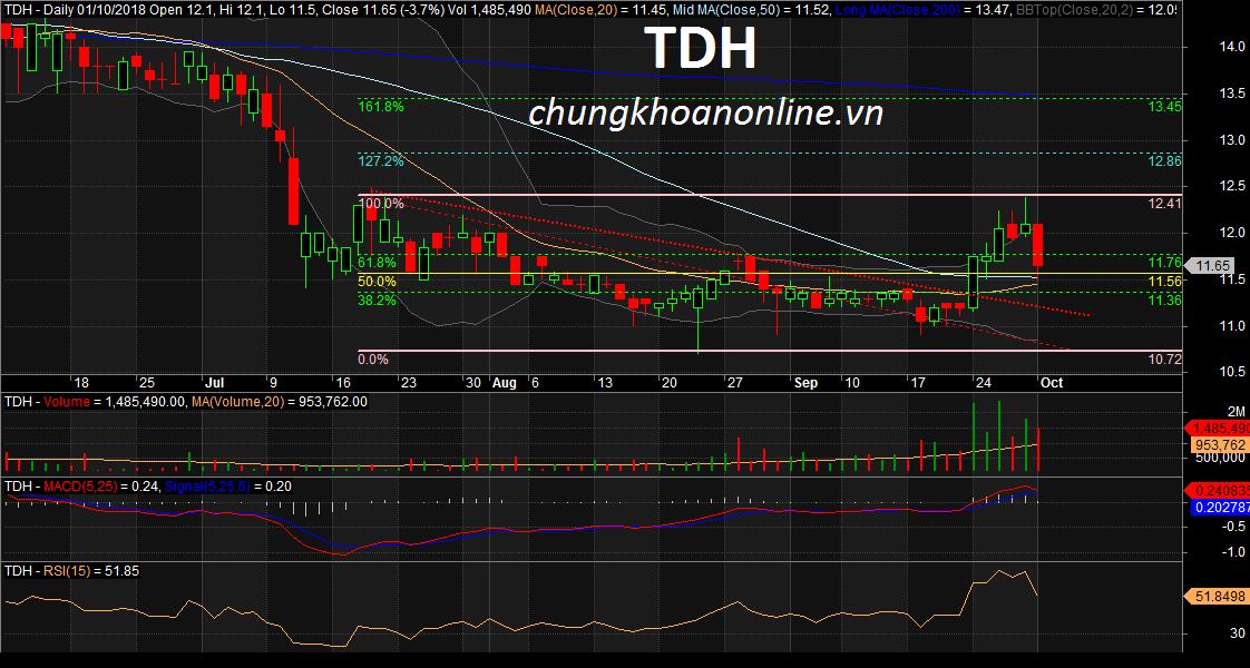 đồ thị cổ phiếu TDH