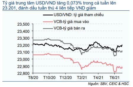 Biểu đồ 6: Diễn biến tỷ giá USD/VND