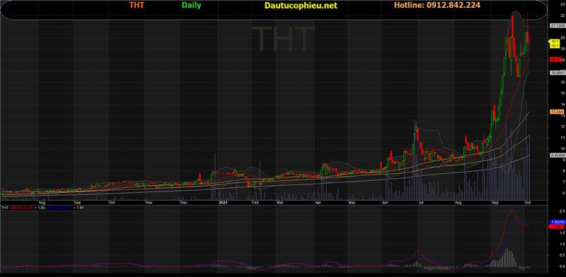 Đồ thị cổ phiếu THT phiên giao dịch ngày 06/10/2021. Nguồn: AmiBroker
